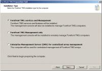 Preparation Tool - Select Installation Type