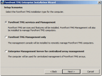 Select Forefront TMG services and Management on Setup Scenarios