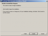 Ready to Install Forefront TMG 2010 program
