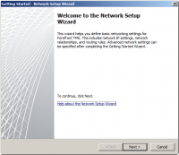 Getting Started Wizard - Network Setup