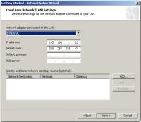 Define LAN Settings