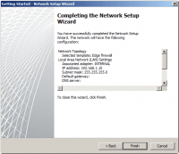 Completing the Network Setup Wizard