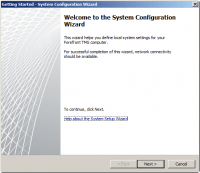 Getting Started Wizard - System Configuration