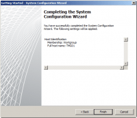Completing the System Configuration Wizard