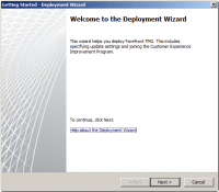 Getting Started Wizard - Deployment