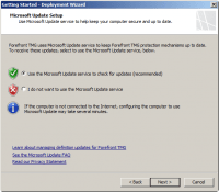 Enable Microsoft Update for Forefront TMG 2010