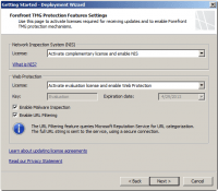Configure Network Inspection System (NIS) and Web Protection