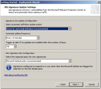 Configure NIS Signature Update Settings