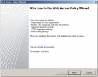 Welcome to the Web Access Policy Wizard