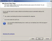 Web Access Policy Rules