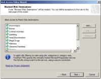 Customize Blocked Web Destinations