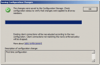 Saving Change Configuration