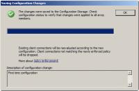 Saving Change Configuration