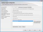 Database Engine Configuration