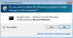 User Account Control Window