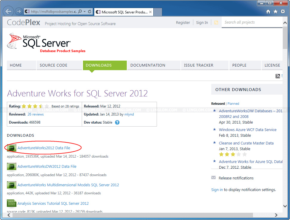Install Sample Database Adventure Works on SQL Server 2012 Express