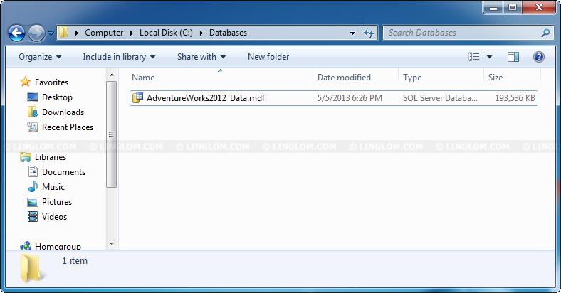 Install sample database adventure works on sql server 2012 express.
