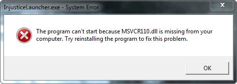 MSVCR110.dll is missing