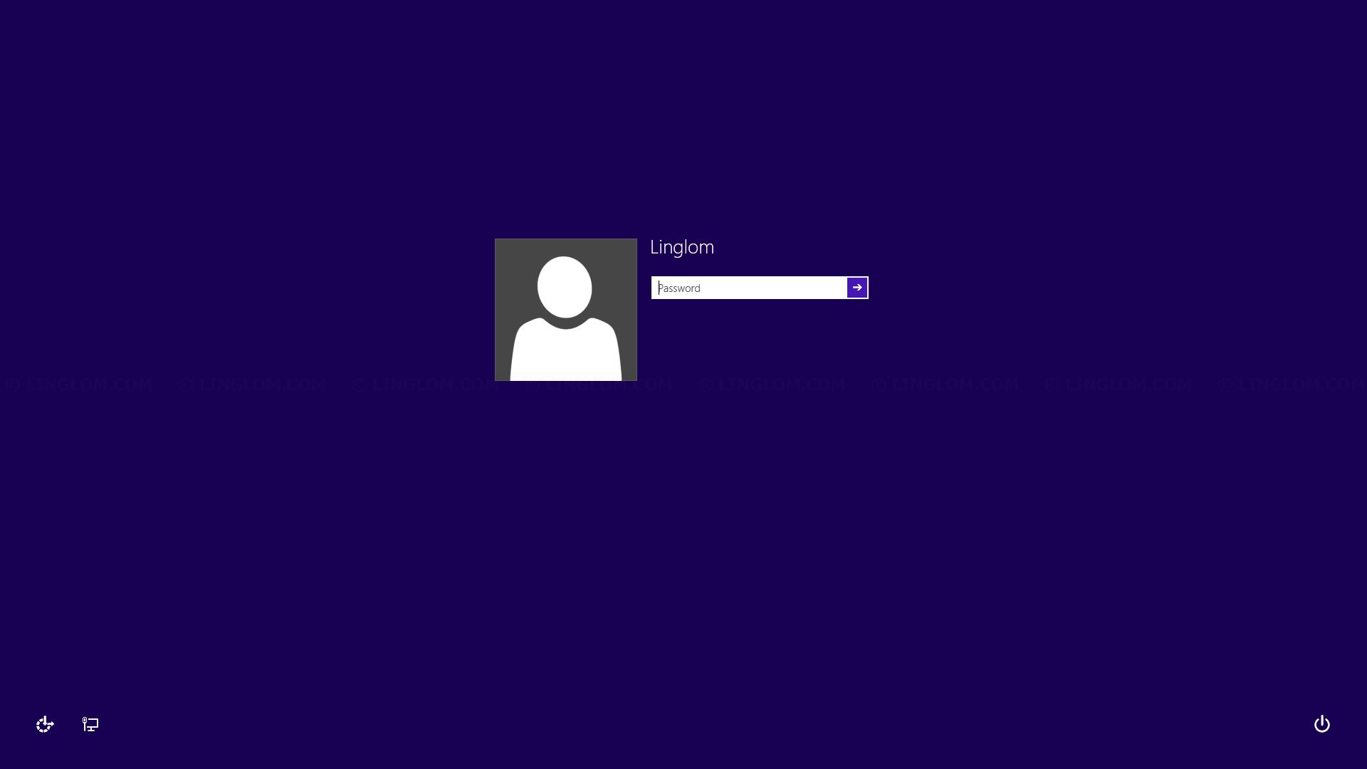 Logon screen on Windows 8.1