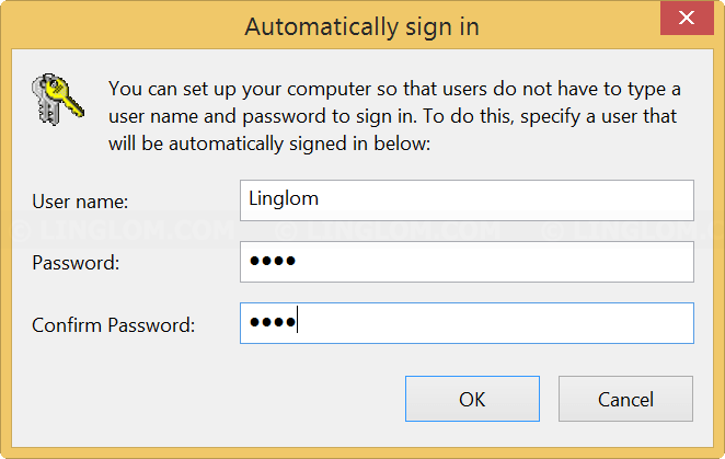 Automatically Sign in on Windows 8.1