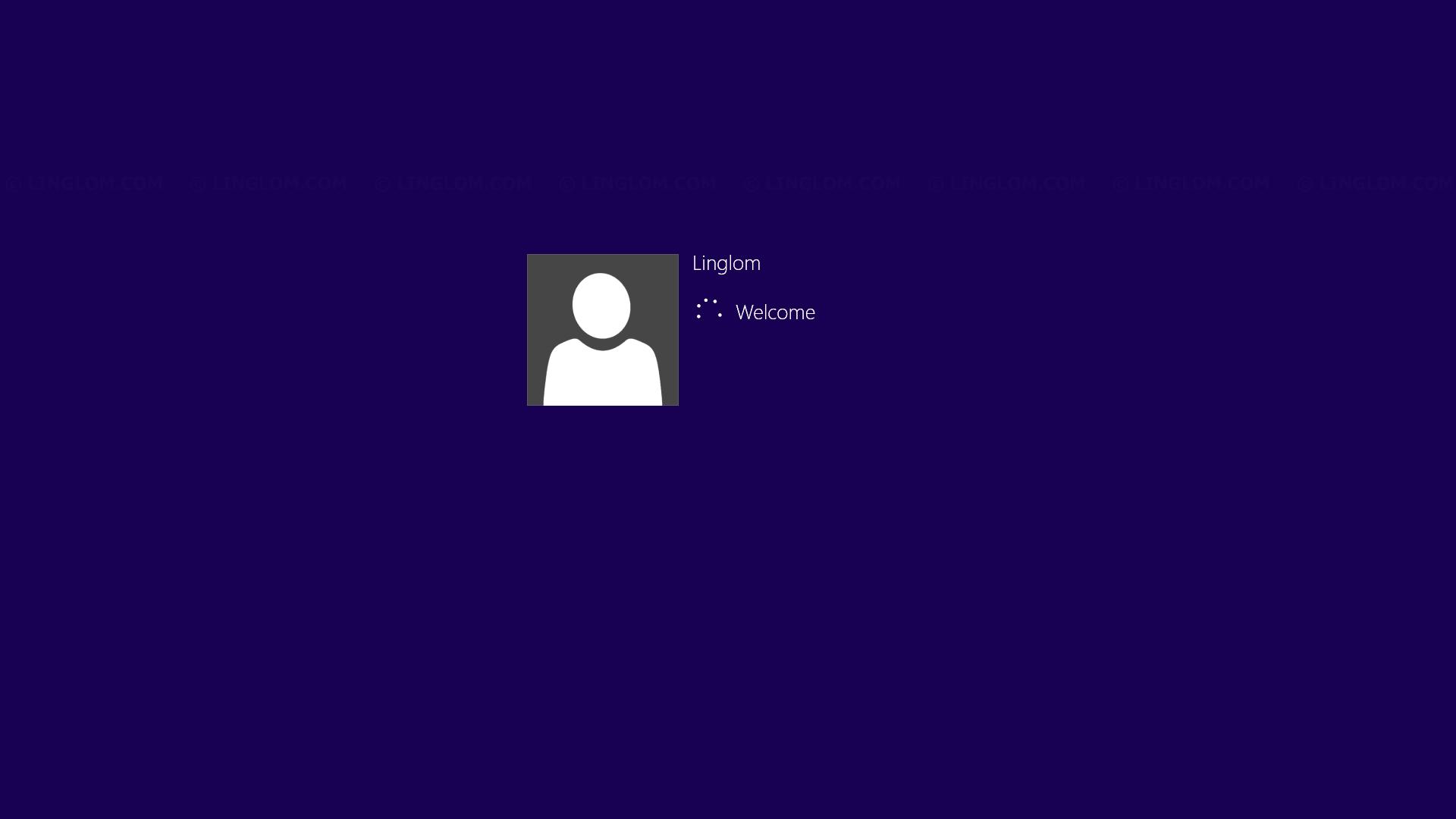 Logging in screen on Windows 8.1