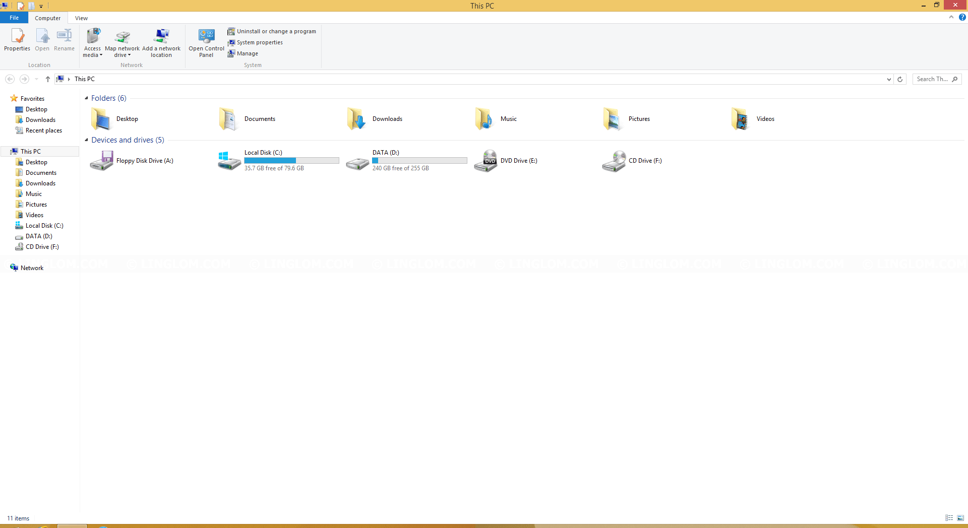 File Explorer on Windows 8.1