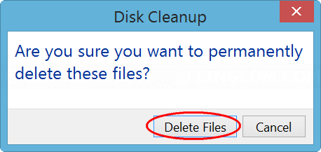 Confirm delete files on Disk Cleanup
