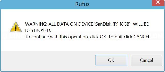 Confirm start on Rufus