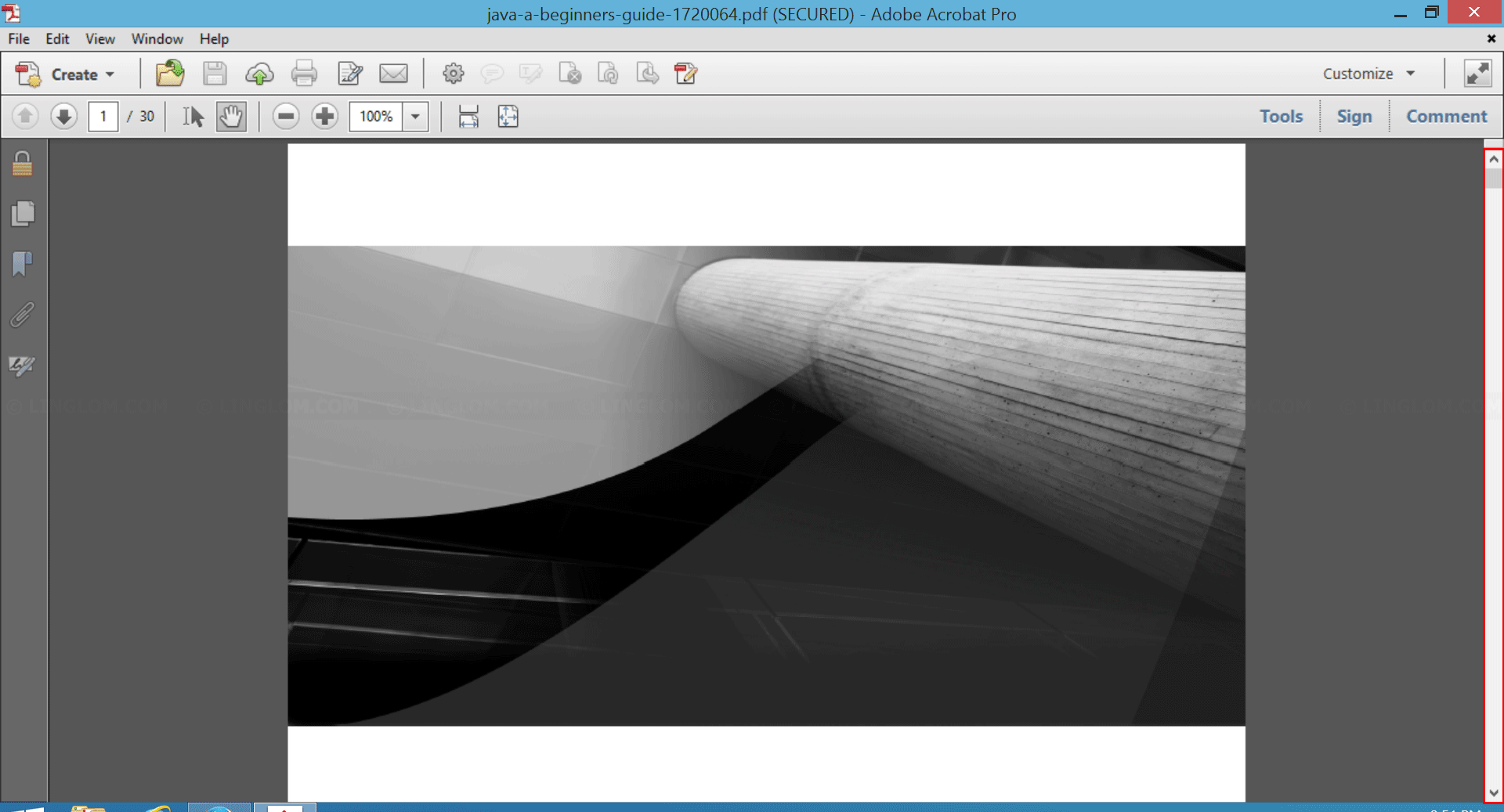 Scroll Bars is visible on Adobe Acrobat