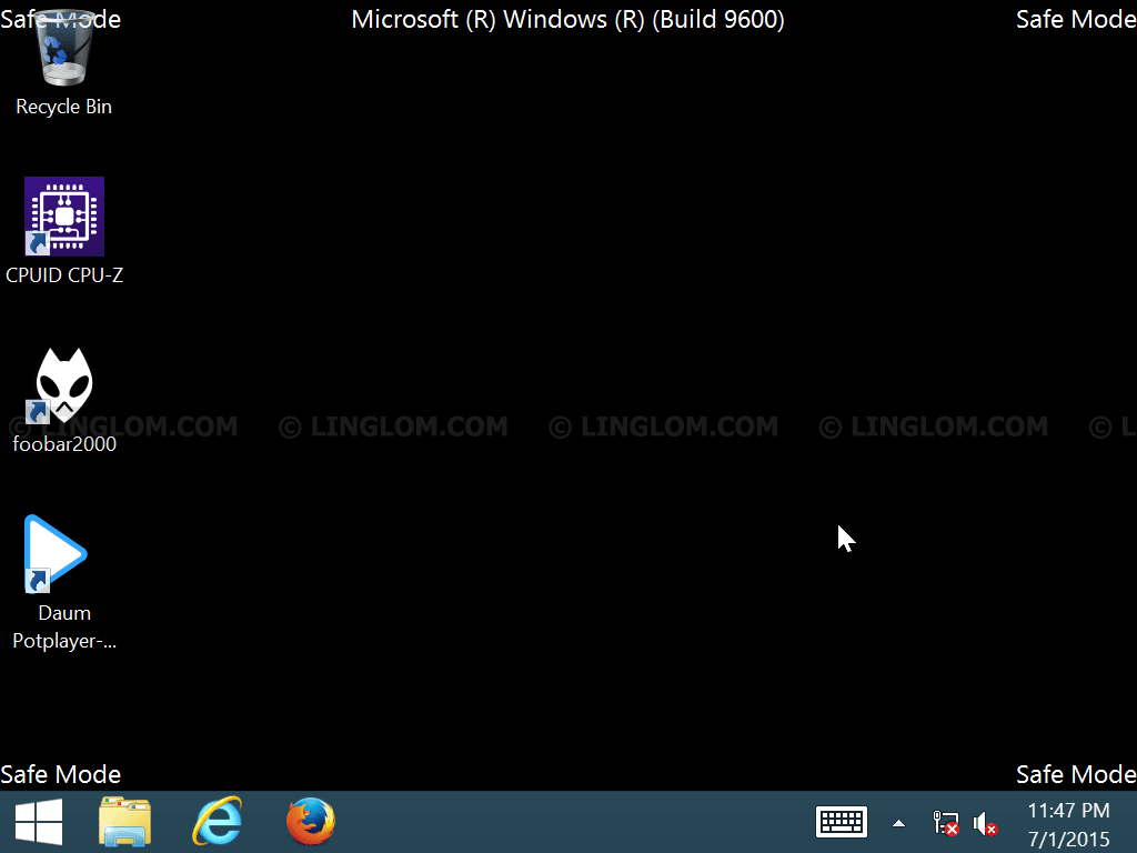 Safe Mode on Windows 8/8.1