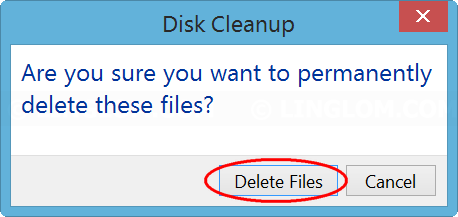 Confirm deleting files on Disk Cleanup