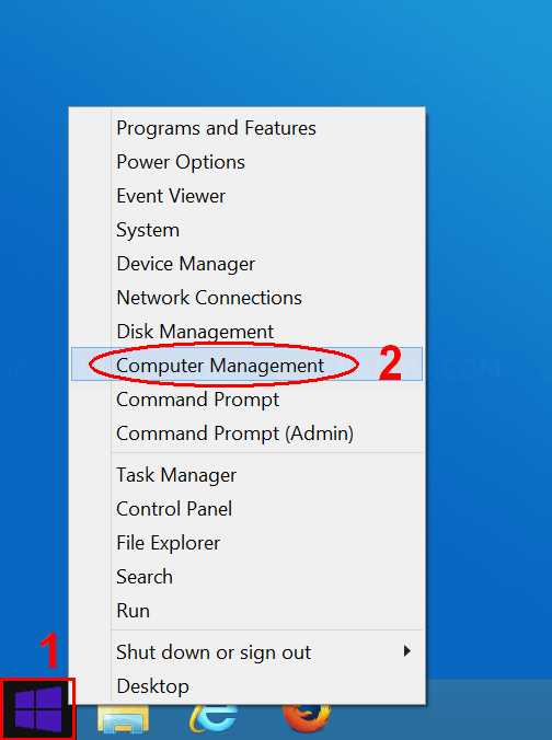 Open Computer Management on Windows 8.1