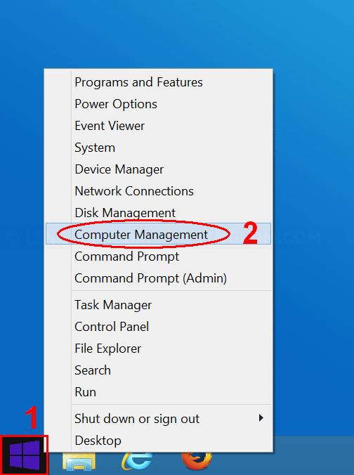 Open Computer Management on Windows 8.1