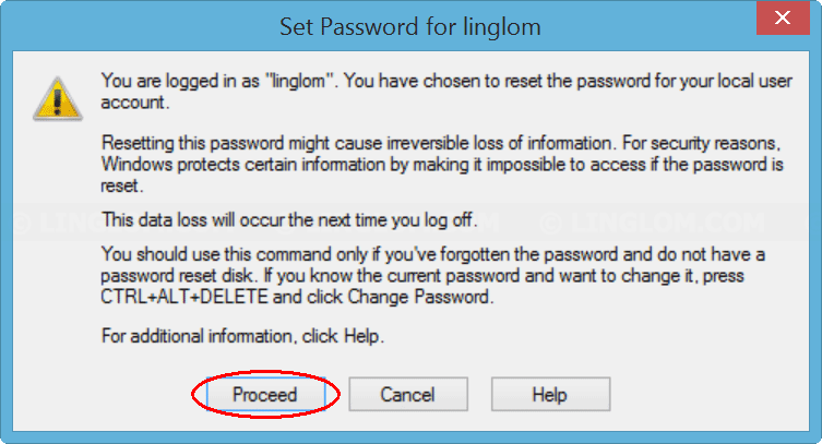 Confirm set new password