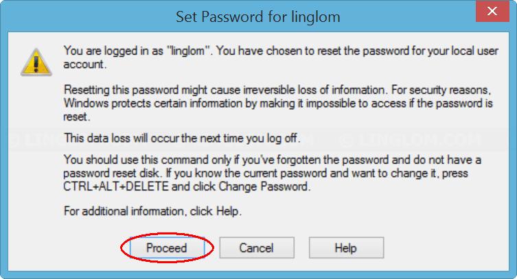 Confirm set new password