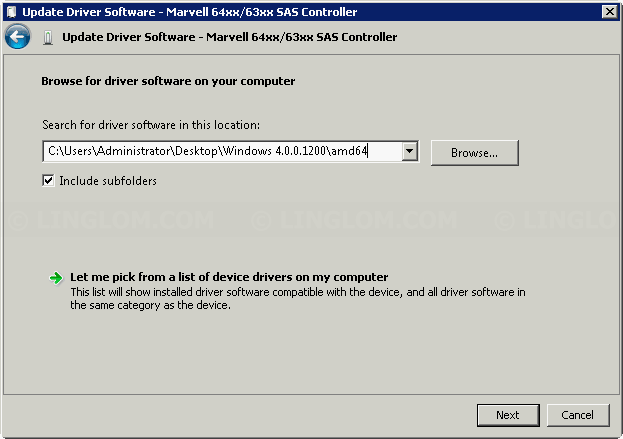 Manually select driver