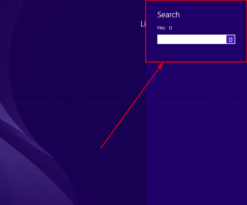 Rectangular boxes is shown on Search screen on Windows 8.1