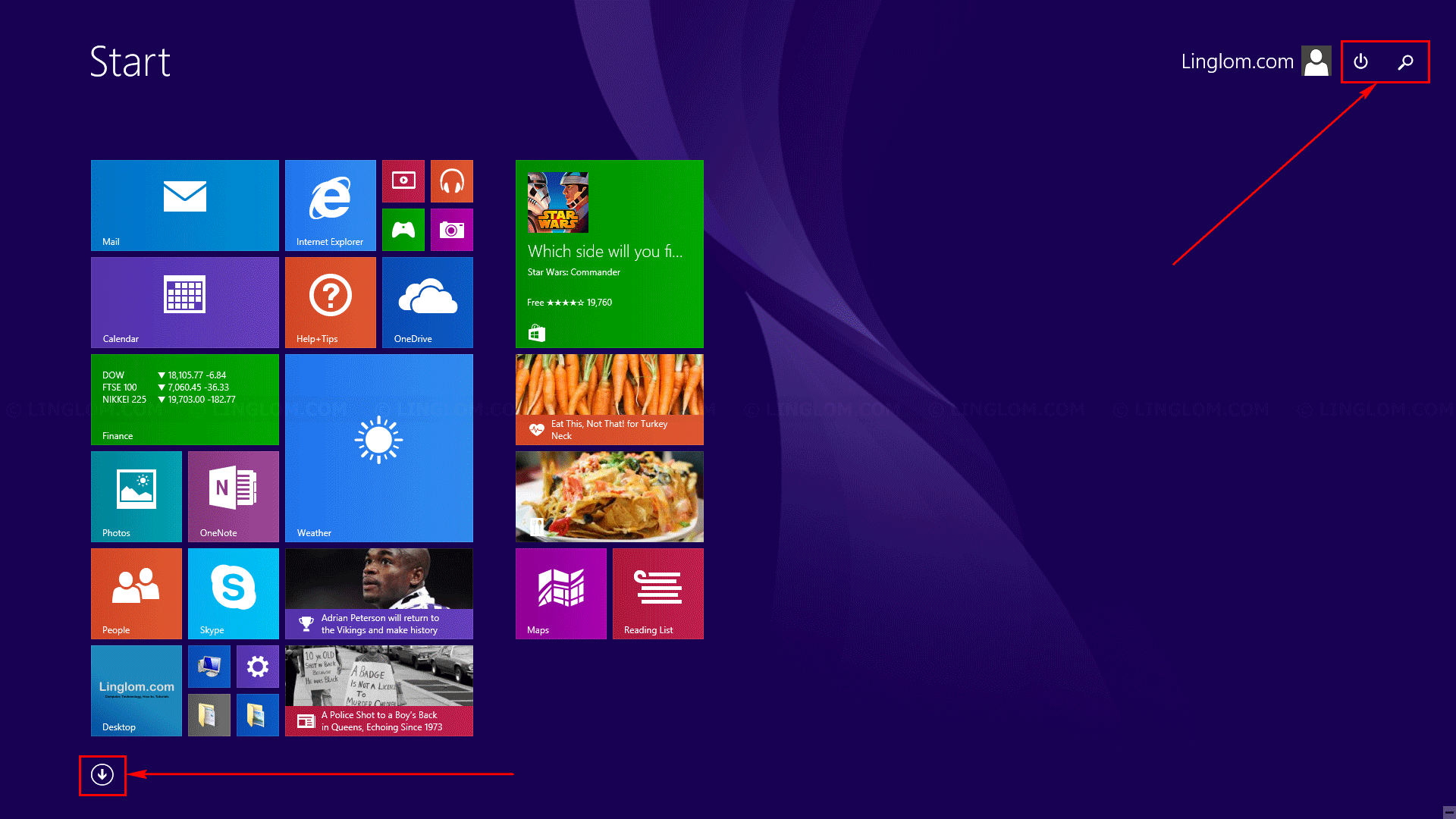 Original icons on Start screen are restored on Windows 8.1