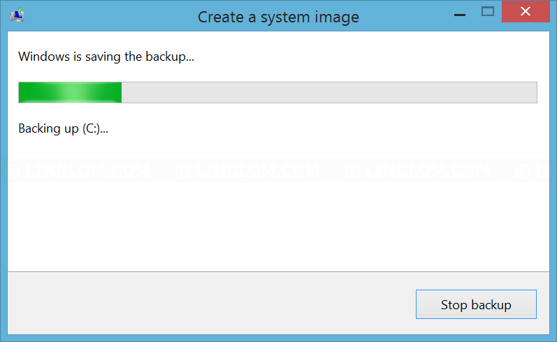 Creating backup image