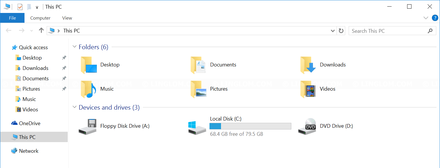 File Explorer on Windows 10