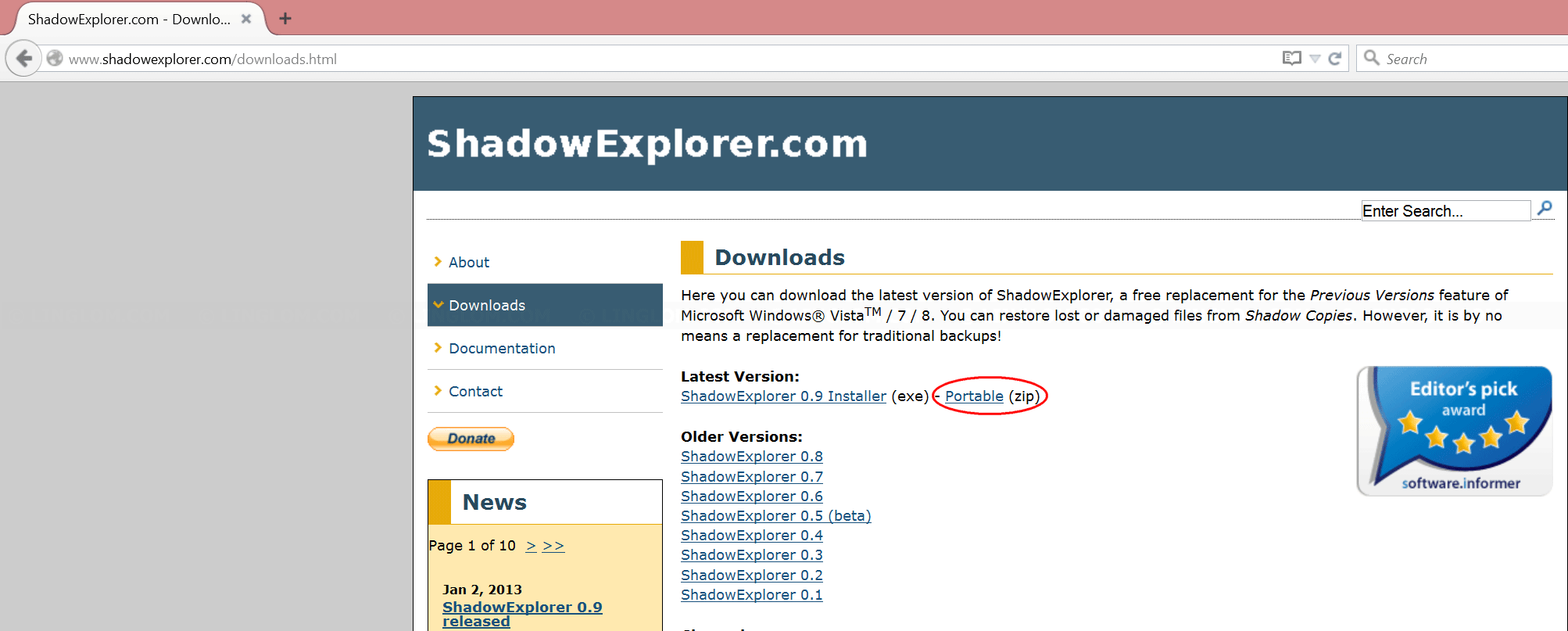 Download Shadow Explorer
