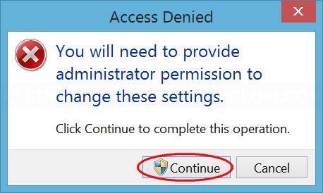 Confirm change settings