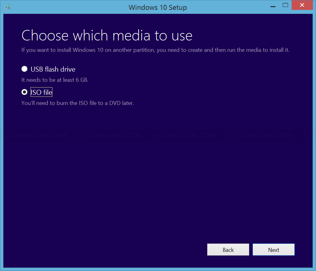 Download Windows 10 as ISO image
