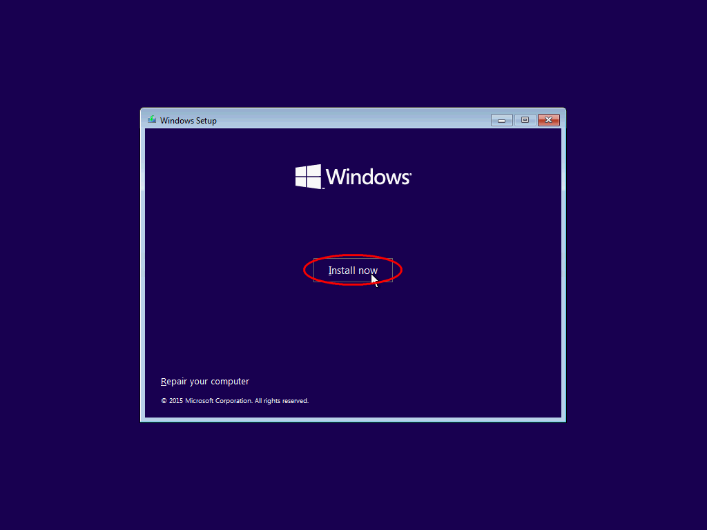 Click 'Install now'