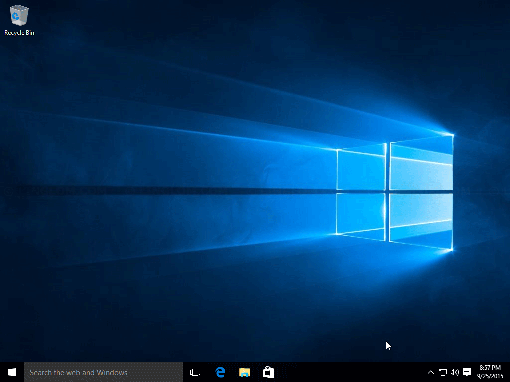 Finished installing Windows 10
