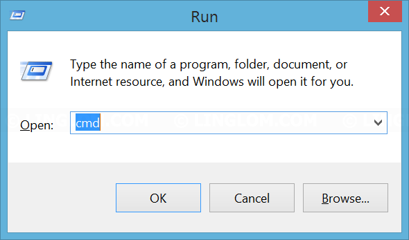 Open Run window