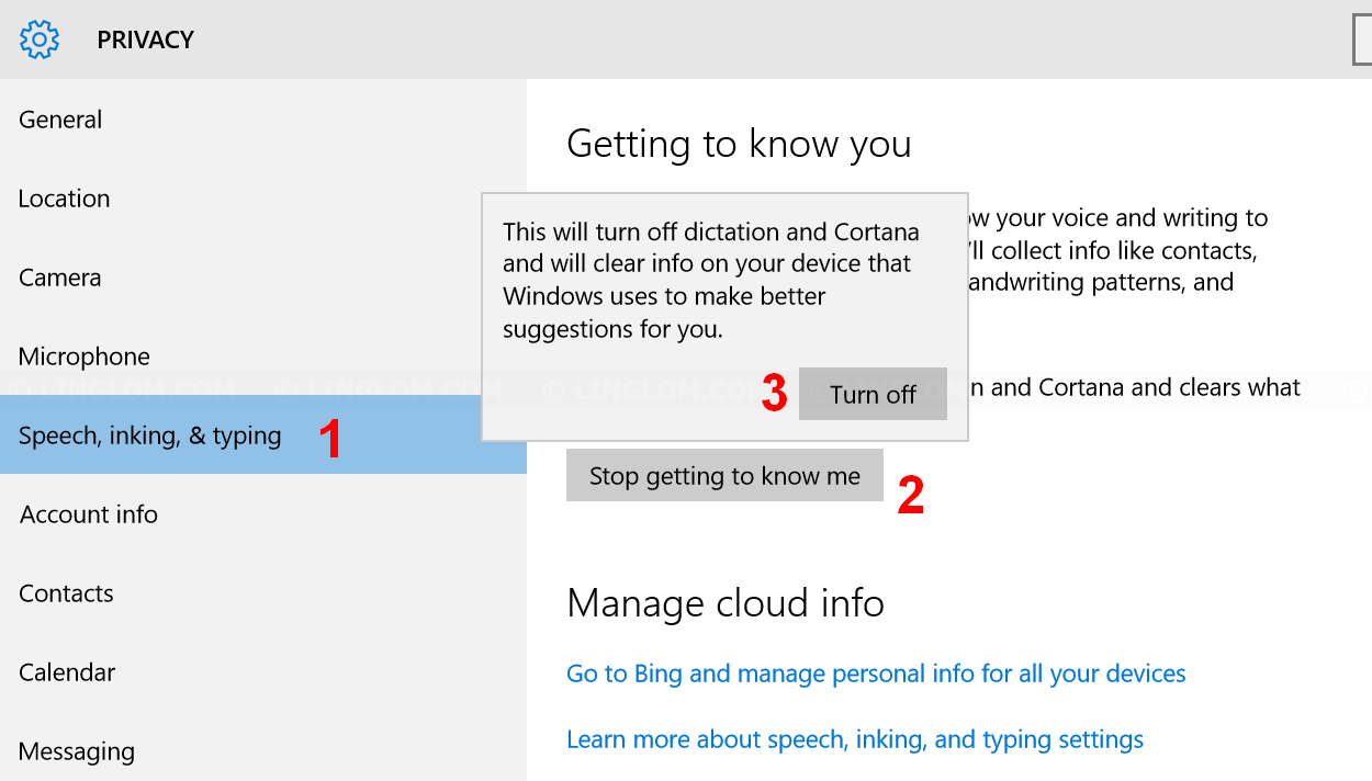 Stop Cortana getting to know you