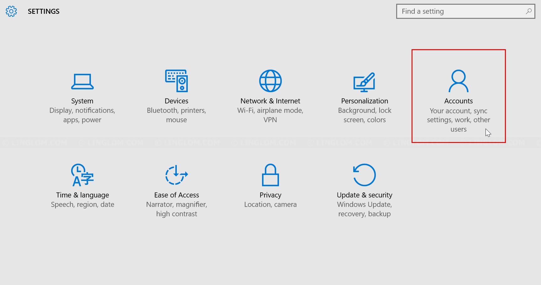 Open Accounts settings