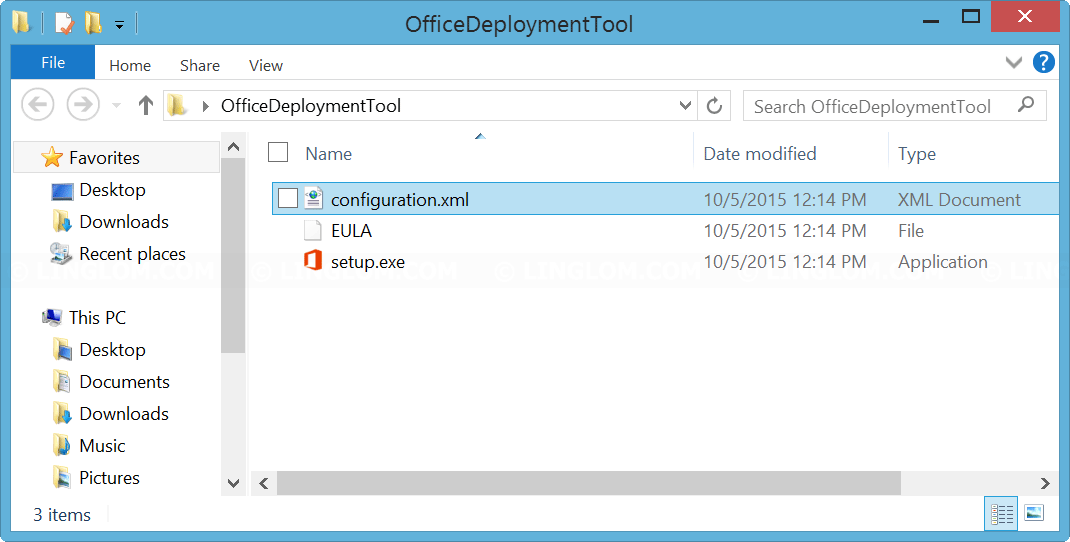 Extract Office 2016 Deployment Tool