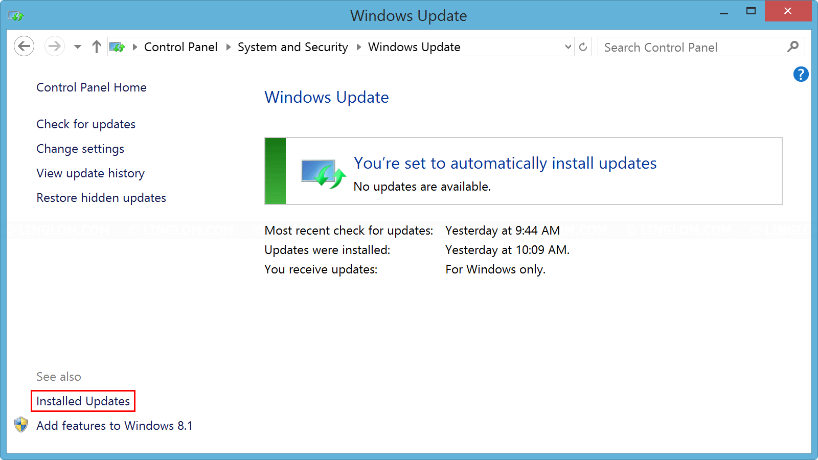 Open Windows Update